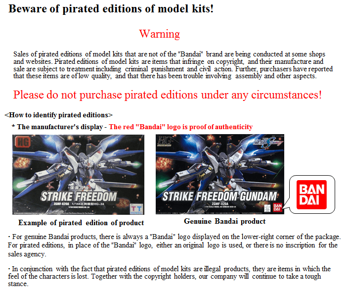 How To Spot Bootleg Merchandise Part 2: Plastic Model Kits