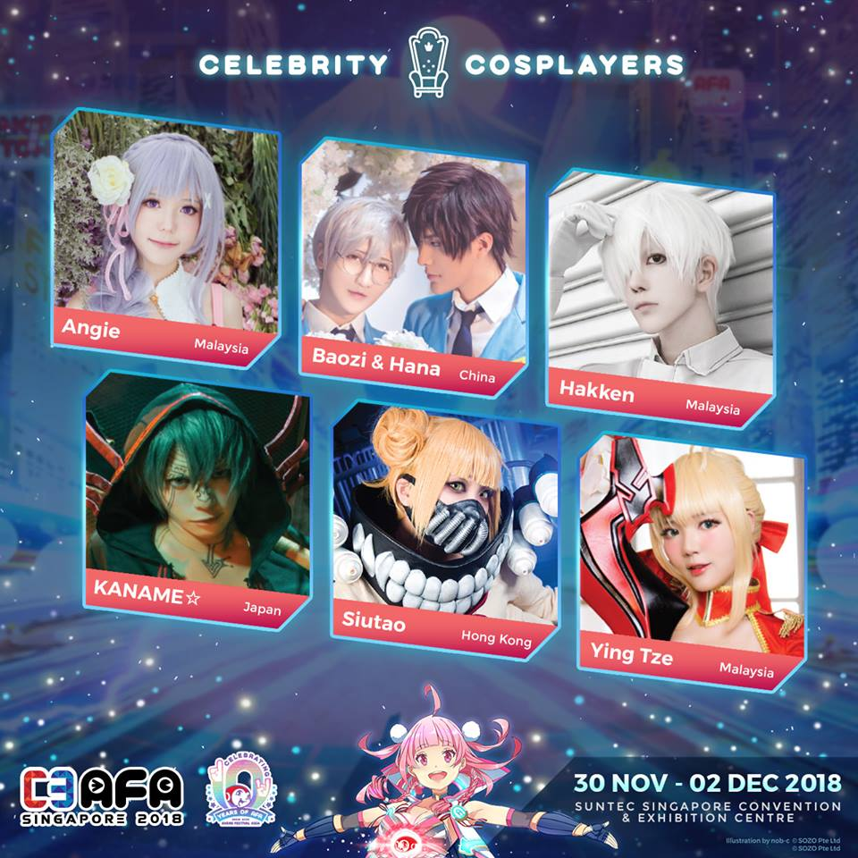 C3 AFA Singapore 2018 Reveals Cosplay Guests!