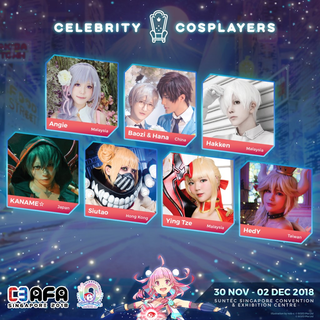 Check Out the Celebrity Cosplay Schedules for C3AFA Singapore 2018!