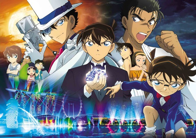 10 Scenes from Detective Conan's new movie, that says they are in Singapore!