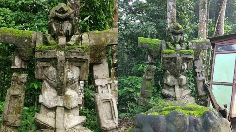 Mossy Gundam statue found in Indonesia, said to be from Majapahit era?!