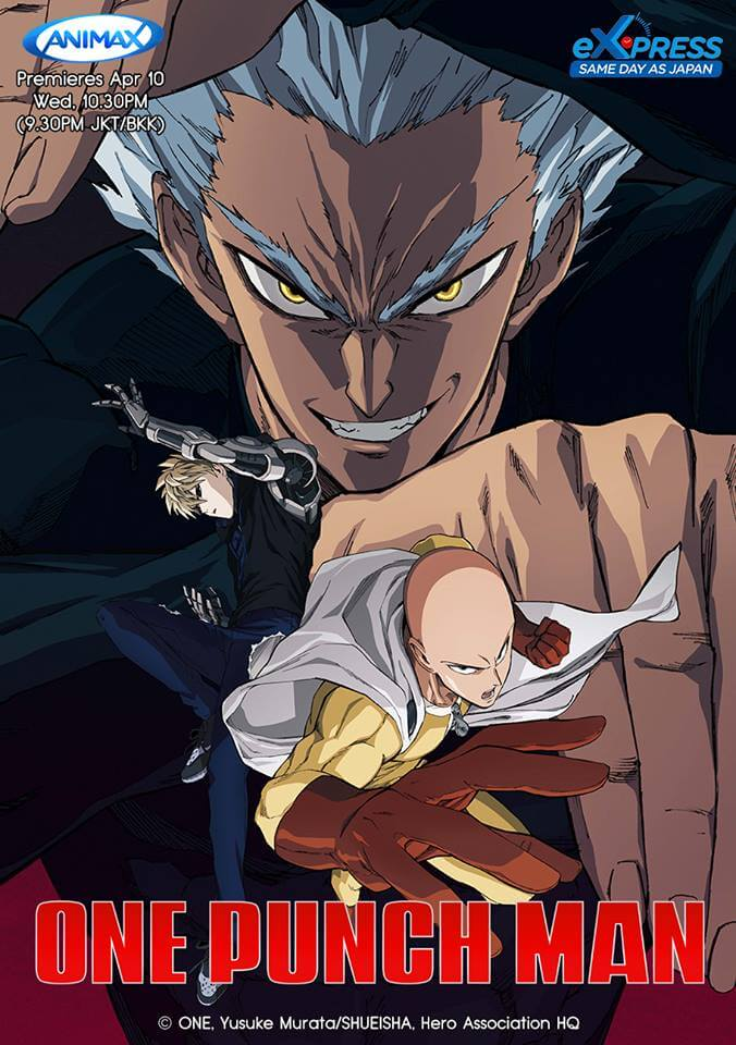 One Punch Man 2 to be simulcast across Southeast Asia via Animax Asia