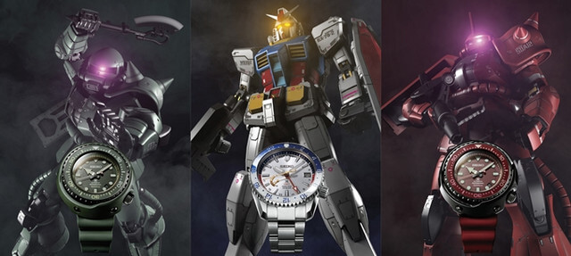 SEIKO releases three new Gundam watches for franchise's 40th anniversary
