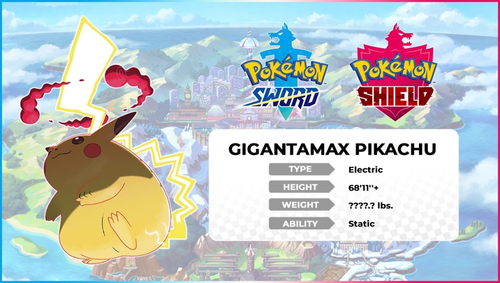 Pikachu gets extra Chonky in Gigantamax Form for Pokemon Sword and Shield