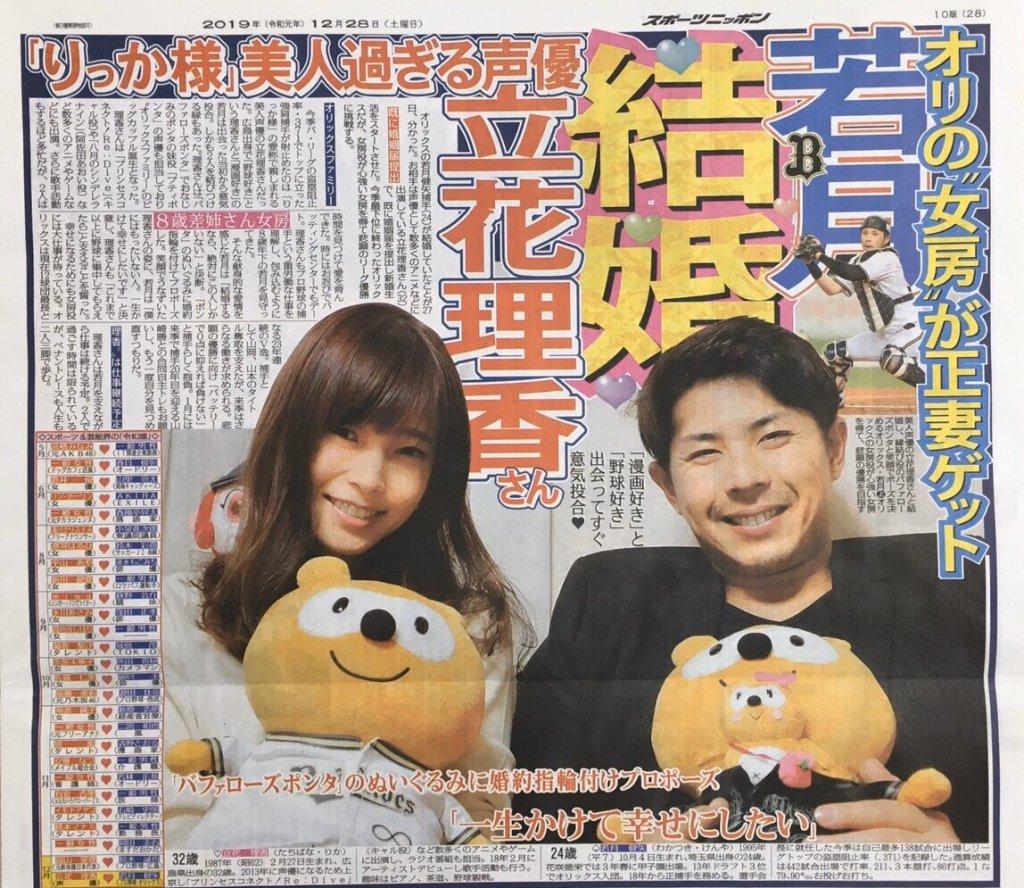 Seiyuu Rika Tachibana marries pro baseball player