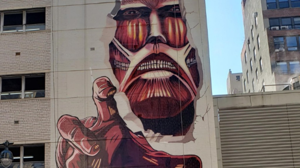 Attack on Titan gets a titanic mural on New York's famous Madison Square Garden