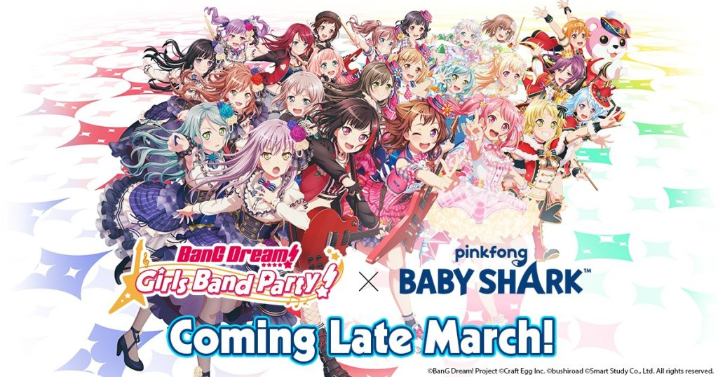 Baby Shark threatens to never leave fans' thoughts again as BanG Dream! collaborates with Pinkfong