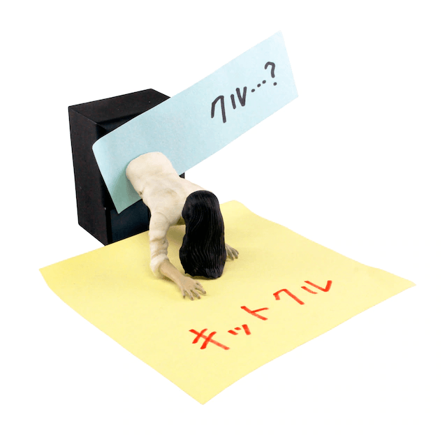"Let Sadako Spice Up Your Workspace with these ""The Ring""-themed Office Supplies"