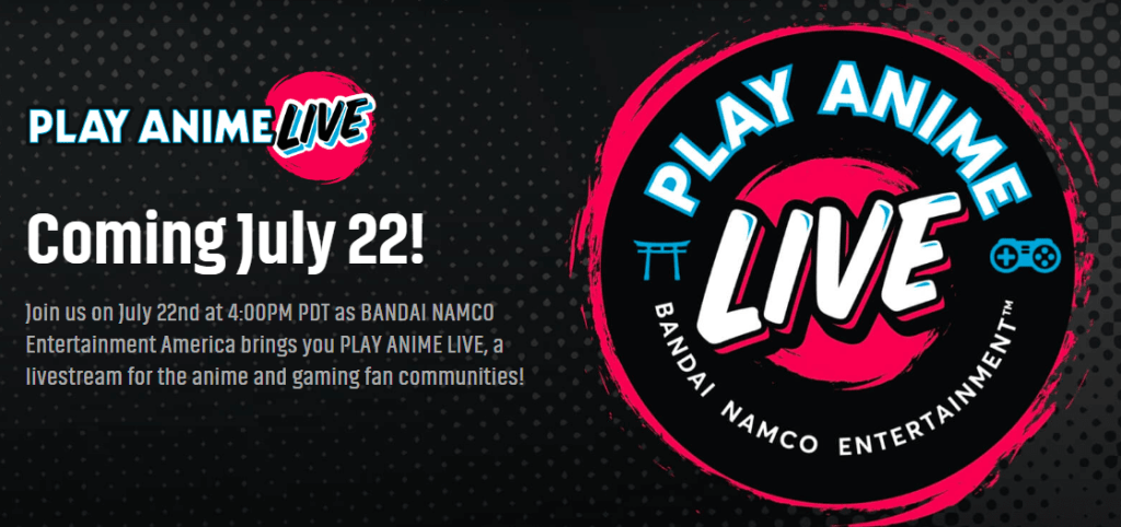 """Bandai Namco Entertainment to Host """"Play Anime Live"""" Online!"""