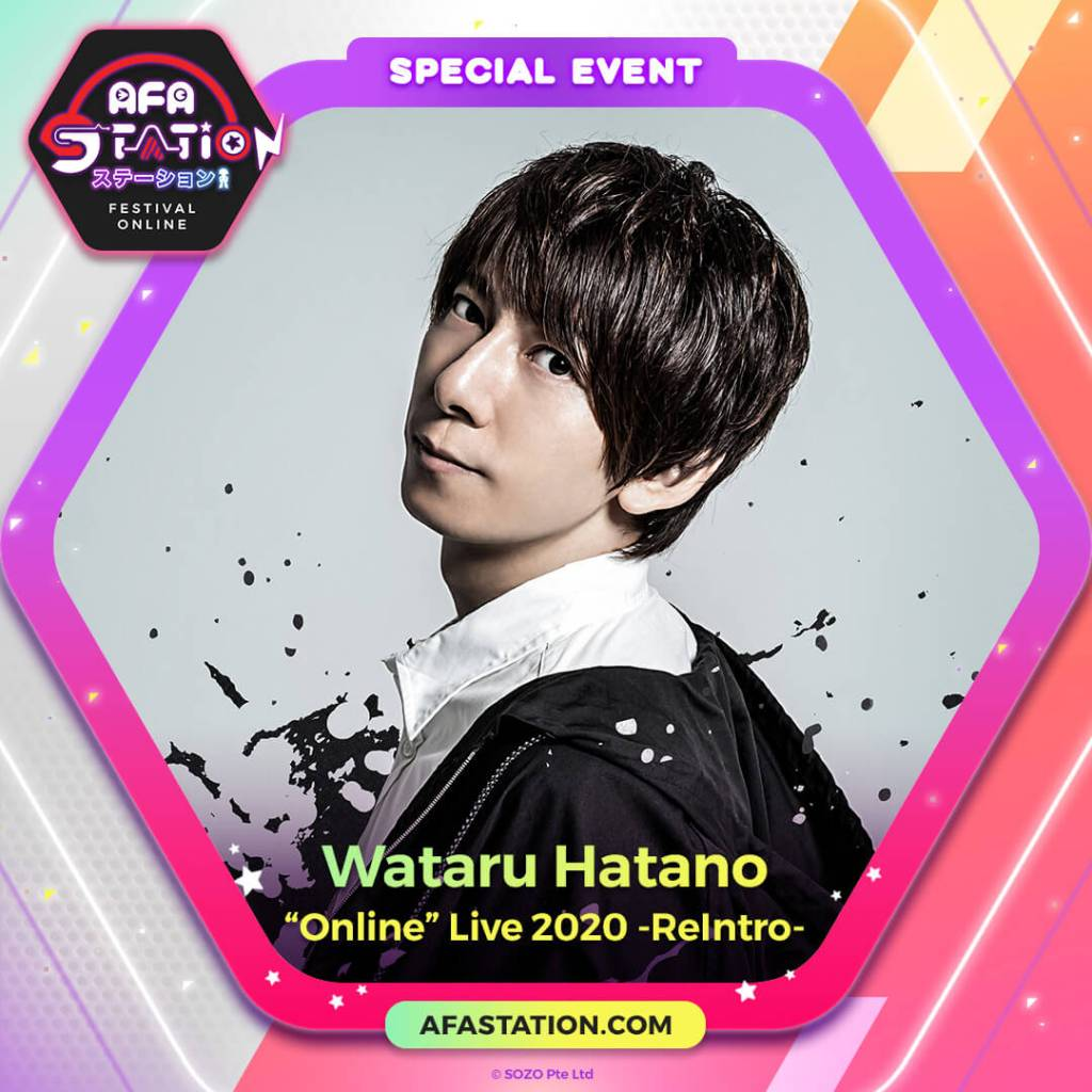 "Welcome Wacchan into Your Home as ""Wataru Hatano ""Online"" Live 2020 -ReIntro-"" Streams 4th Sept!"
