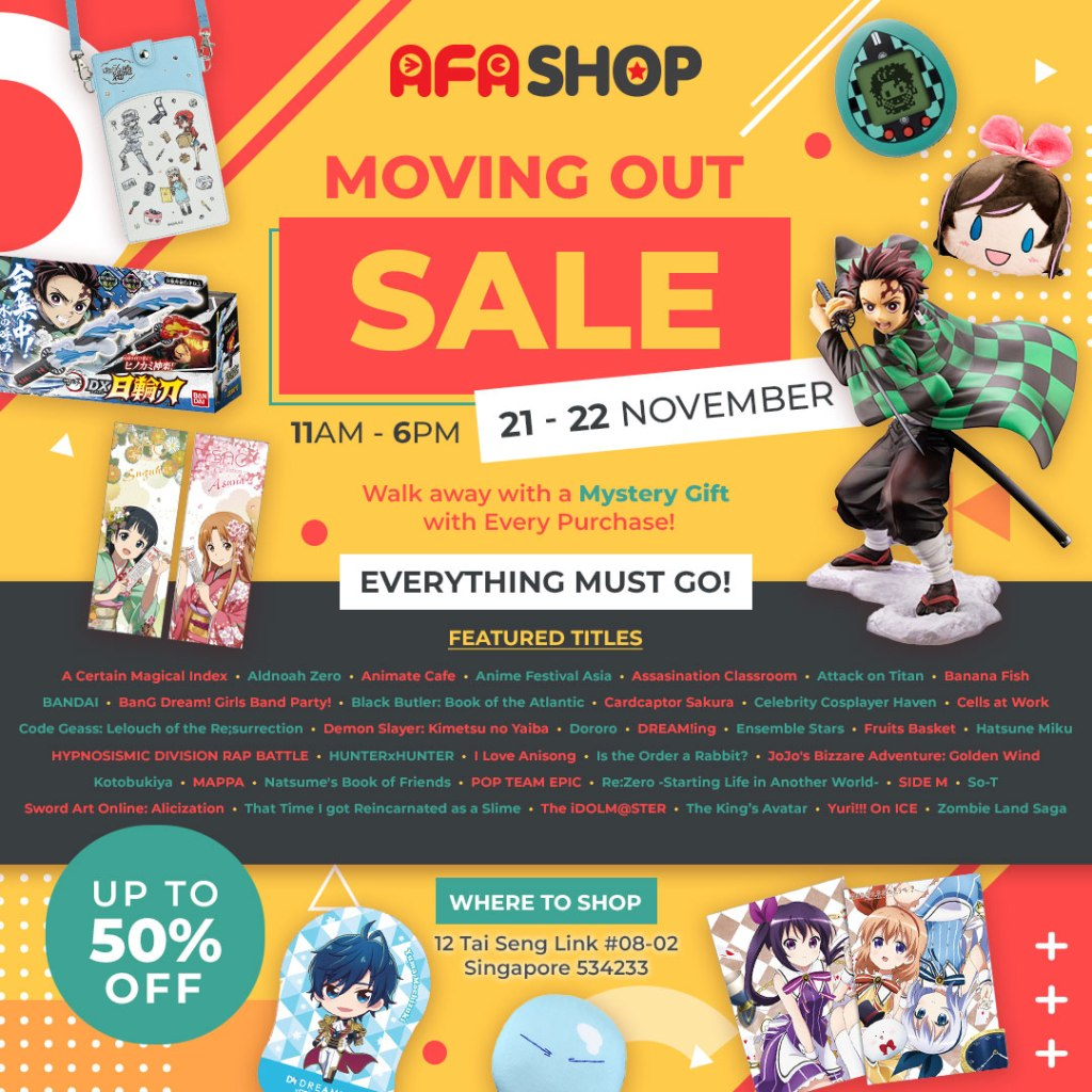 Get a Headstart on Christmas Shopping with AFASHOP.co's Moving Out Sale!