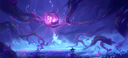 Narukami Island-The plant life here has grown gnarled and unnatural from growing in uttermost darkness. Something twisted seems to be sealed here.