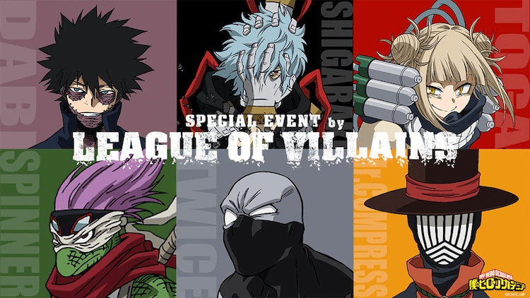 """""""HeroAca"""" to Hold Special """"League of Villains"""" Event 21st November"""