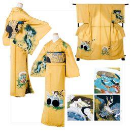 風神雷神:着物/¥450,000 帯/¥300,000 着物+帯/¥700,000