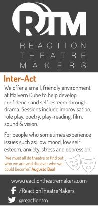 SoJo Designs Malvern DL Flyer Inter Act Reaction Theatre Makers
