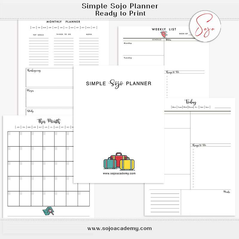 Simple Sojo Planner: BONUS