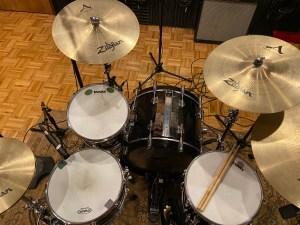 Studio shot of drums