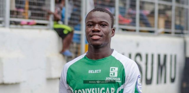 Image result for Sony Sugar midfielder Tobias Otieno.