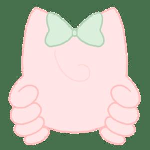 カラーシルエット[ピーチ]