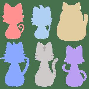 猫シルエット(お座り)