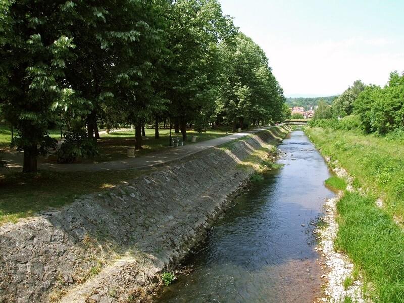 Sokobanja kej na reci Moravici