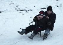 Neighbor children in winter