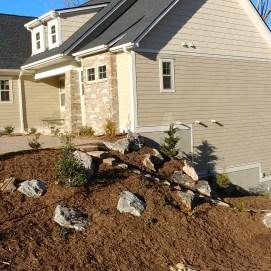 Sokol Landscaping Asheville Boulder Stairs Grading