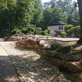 Irrigation and Rock Wall
