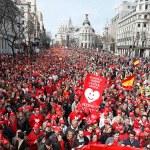 Марш против абортов в Испании