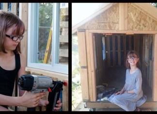 Девочка строит приюты