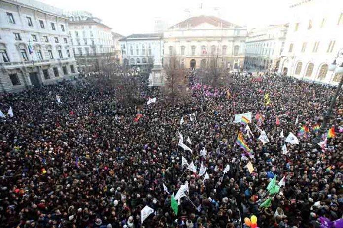 В Италии прошёл многотысячный протест против гей-браков