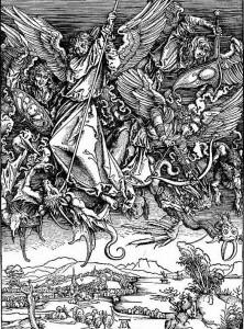 Альбрехт Дюрер Битва архангела Михаила с драконом