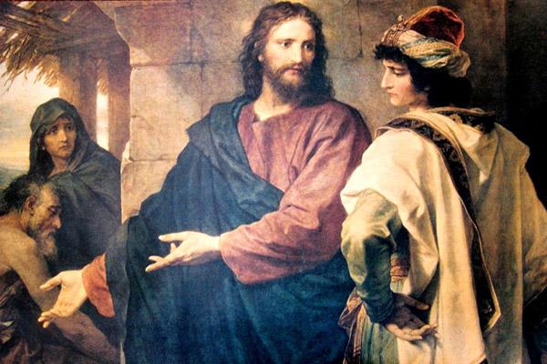 Иисус Христос и богатый юноша