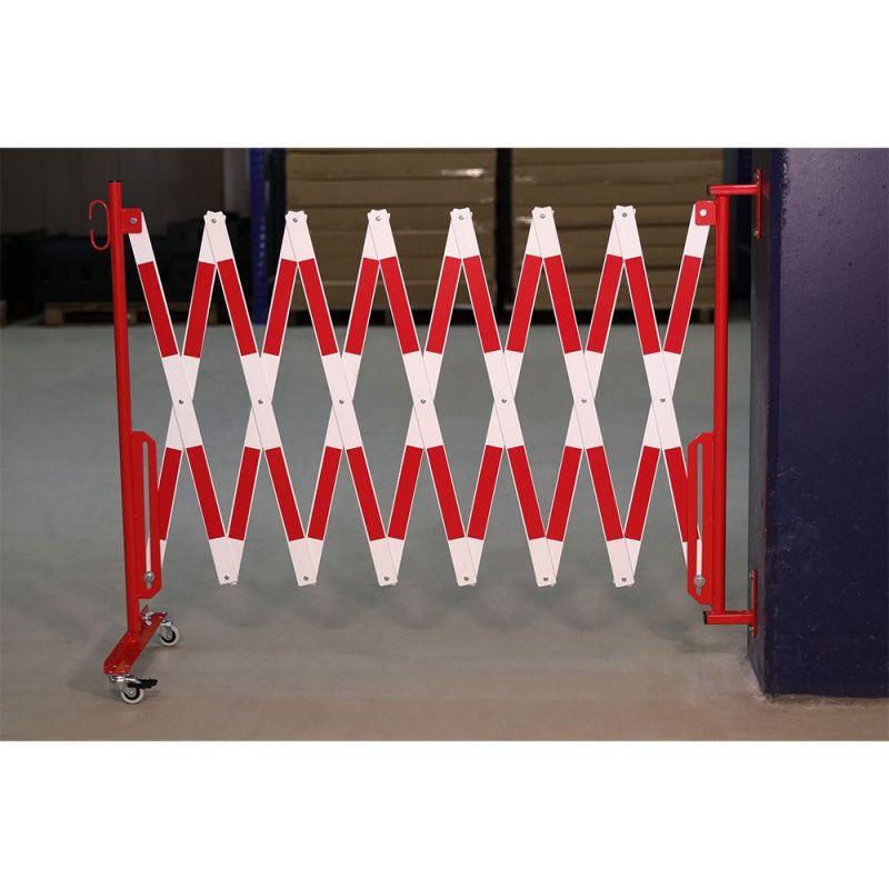 barriere extensible fixation murale et roues