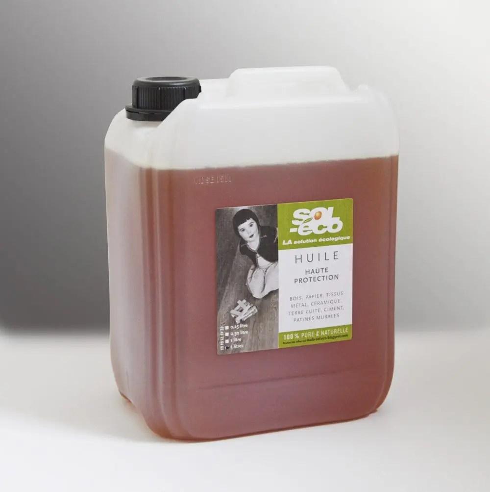 huile de Tung pour bois sol-éco