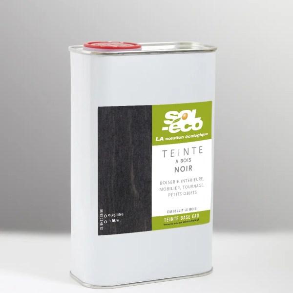 teinte noire pour bois en bidon acier recyclable