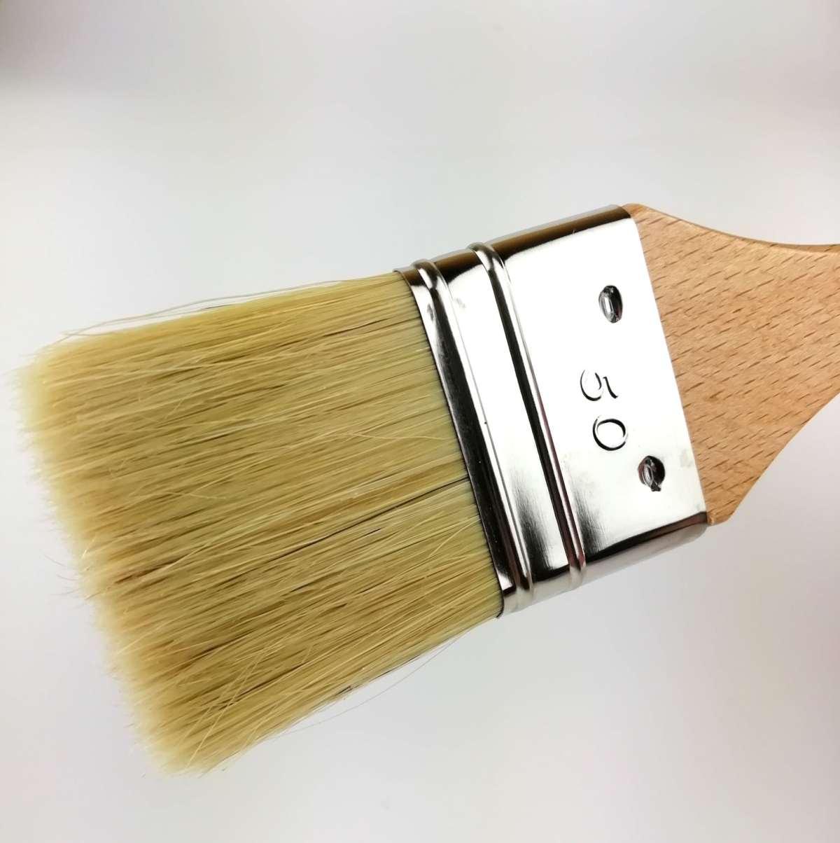 pinceau taille medium 50mm à manche hêtre vernis