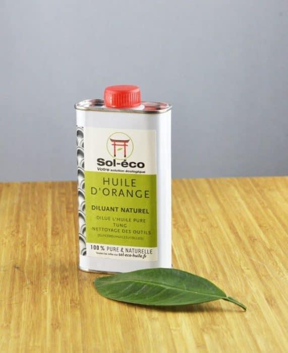 bidon d'huile d'orange (D-limonene) 0,25 vue dessus