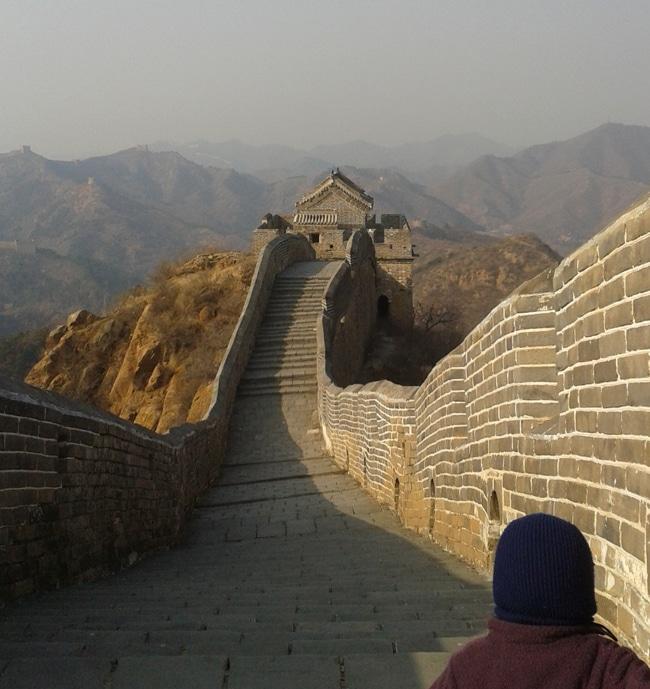 Une partie restaurée de la muraille de Chine