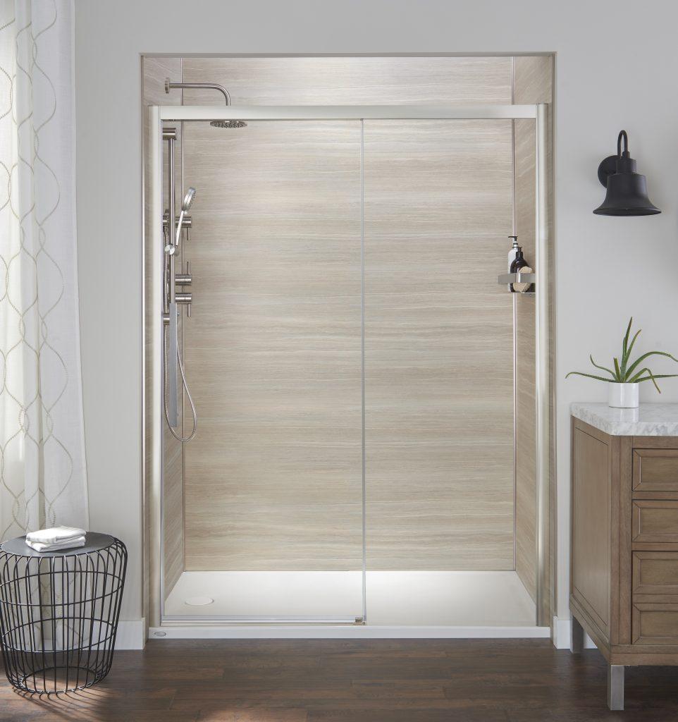 semi frameless reversible shower doors