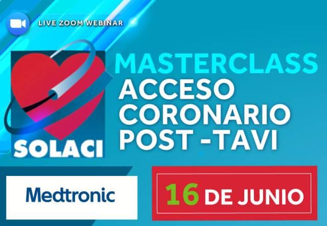 16/06 | Masterclass SOLACI: Acceso Coronario Post-TAVI