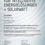 Zertifizierung SOLARWATT ENERGY SOLUTION - Storage PARALLEL 3.0