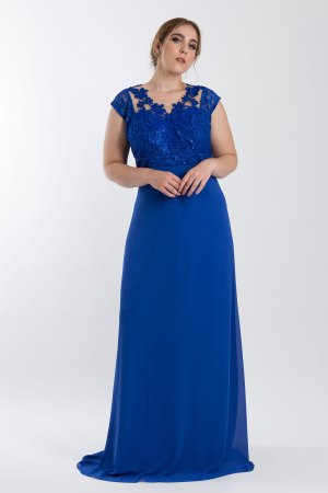 VESTIDO FESTA DECOTADO AZUL ROYAL PS_PD174_8097royal_f2