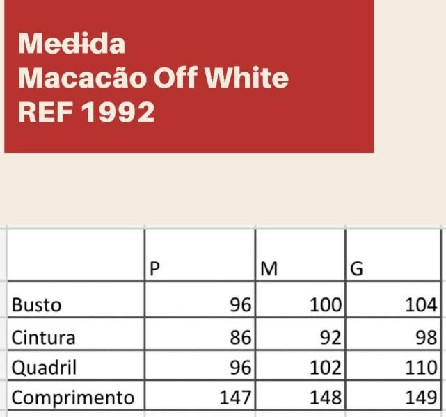 MACACÃO OFF WHITE JEANS
