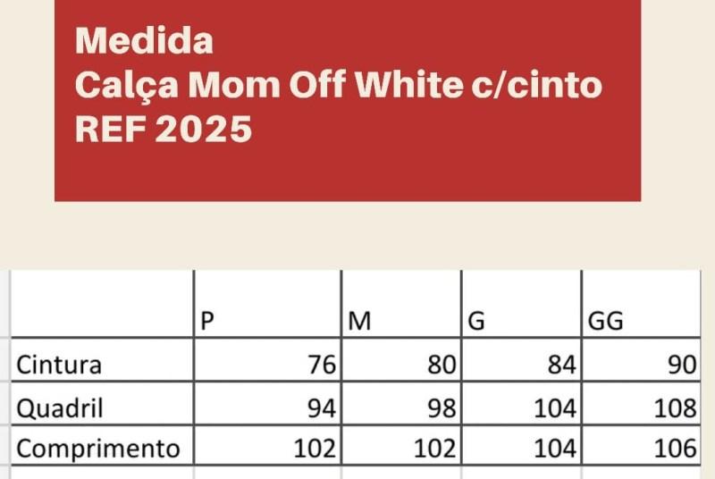 CALÇA MOM OFF-WHITE JEANS