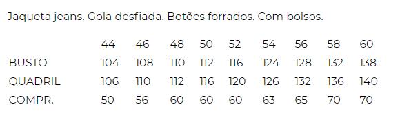 JAQUETA JEANS GOLA DESFIADA
