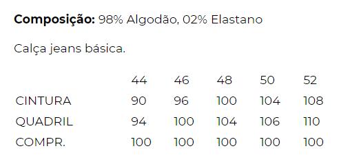 CALÇA BÁSICA JEANS PRETO