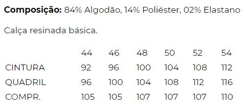 CALÇA BÁSICA SKINNY SARJA PRETA RESINADA