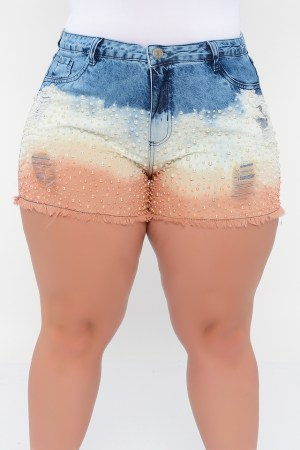 SHORTS BORDADO PÉROLAS JEANS