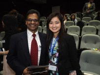 Founder of SOLAGEO Joe Fernandez with President of APAC Ideas for Action Venus To